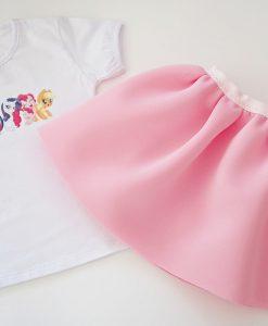 Детски комплект от пола и блуза малкото пони