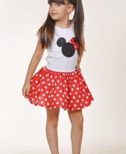 Детски комплект от пола и блуза Мини Маус