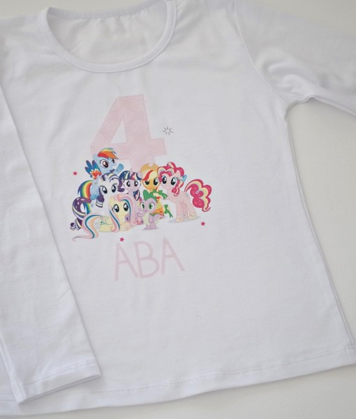детска блуза с име и години малкото пони