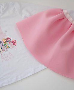 Детска пола и блуза за рожден ден My little pony