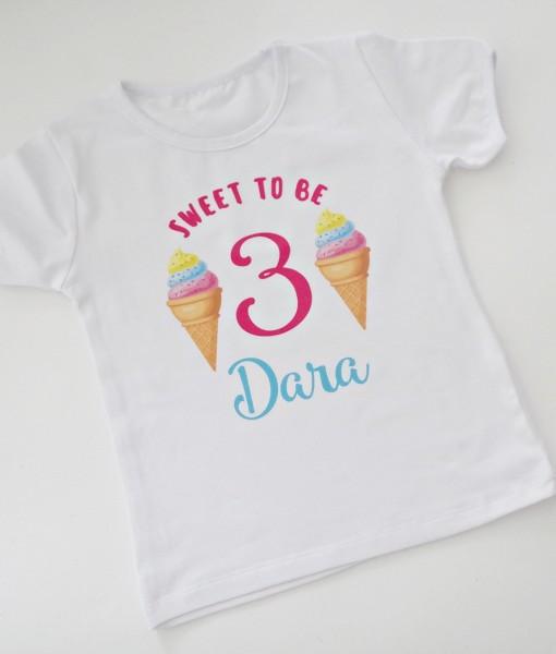 Блуза за рожден ден Сладолед