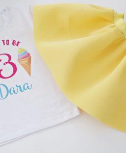 Детска пола и блуза за рожден ден Сладолед