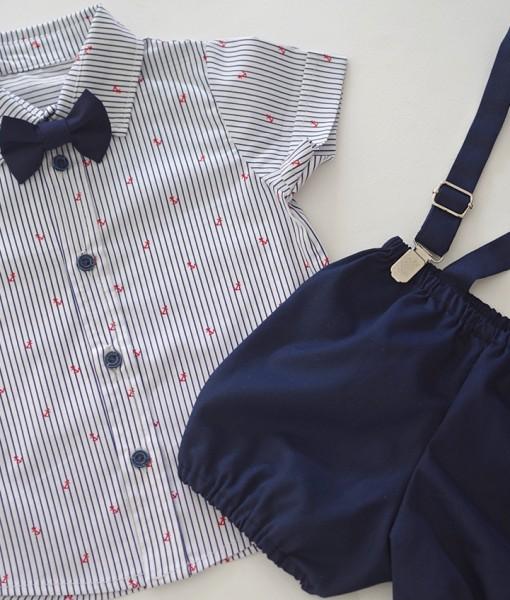 бебешки моряшки комплект с ризка и панталонки
