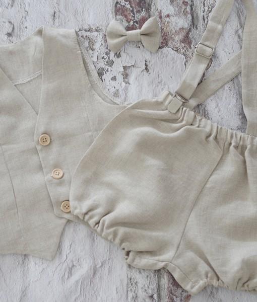 бебешки официални дрехи от лен