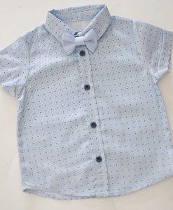 детска риза в синьо с папионка по избор
