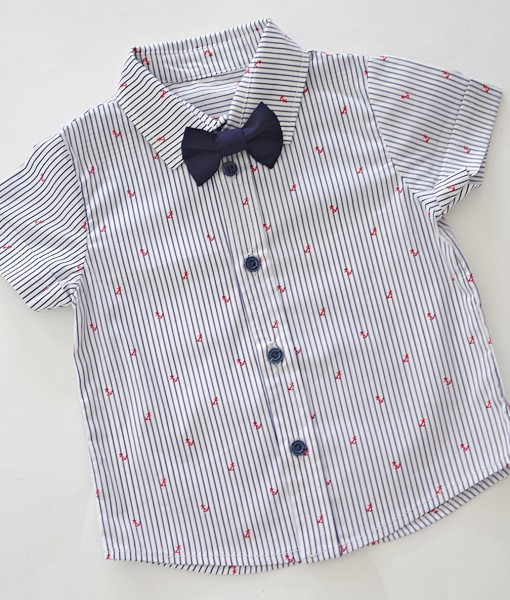 детска риза с котвички и папионка по избор