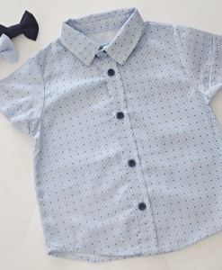 детска синя риза с папионка по избор