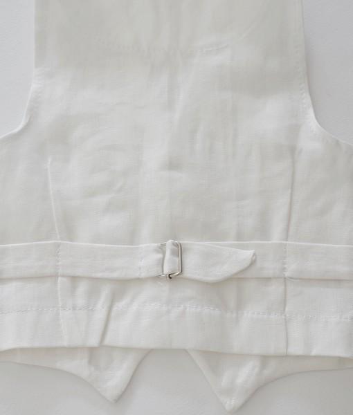 детско официално елече в бяло-гръб