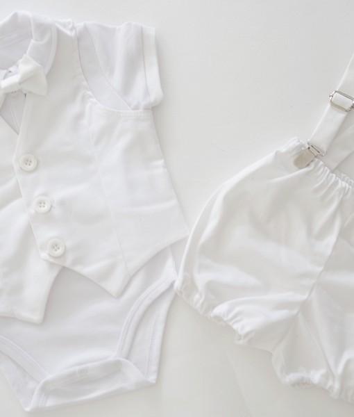 комплект за кръщене в бяло
