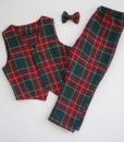 официален коледен комплект за момче с елече и панталон